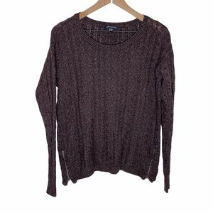 American Eagle Cable Knit Side Zipper Sweater